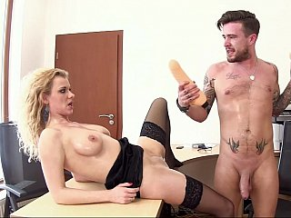 fist penetrating too dildofucking his secretary
