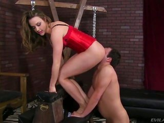 Chanel Preston is not at any time satisfactory as well as takes males erect cock in her mouth again as well as again