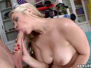 Sarah Vandella with cool slave is good to go to suck in chaps erect meat golf club day and night