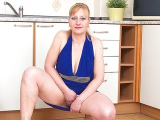 unsightly looking likable aged prossie is stretching her submissive hole