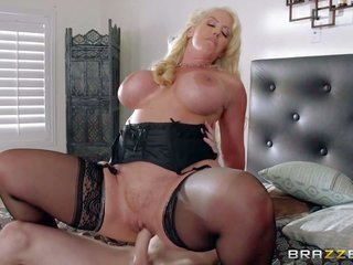 Alura Jenson is a lustful as annoyance mamma with bulky zeppelins who cant miss her chance to takes obese jock of her just married daughters mate in h
