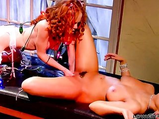 lascivious act of love kitten Heather Carolin acquires the gladness from licking Charley Chases cum-hole