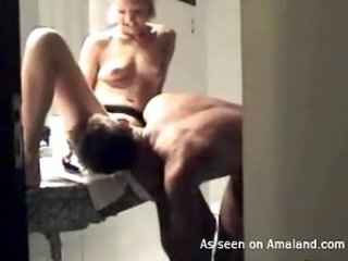 Homemade sex with unique ripe beauty