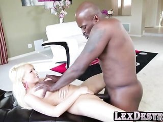 bright-haired Kagney swallows Lex massive pussy's bestfriend