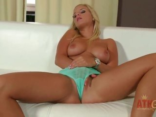 ight golden-haired Miela can not live a day without dildoing her twat