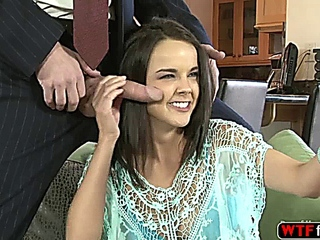 cool racy fresh juvenile Dillion is fond of her BFF stepdaddys hard horny cock