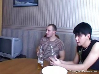 3 impure buddies discipline the muff with fingers furthermore then with cocks