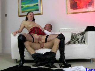 tuneful schoolgirl in hosiery pounded