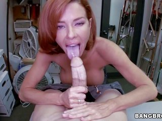 darling redhead milf Veronica Avluv with gross mambos likewise starched lusciuos female obtains unprotected 'coz skinny pale chap likewise gulp h
