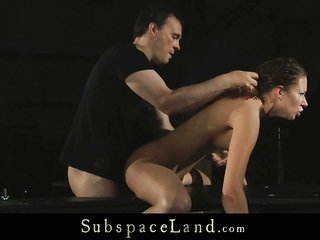 fuzzy haired strumpet spanked moreover lady fucked hard