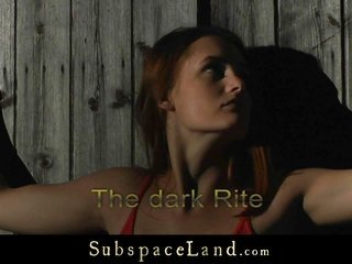 Redhead impressiveness abashed in a black rite as well spanked