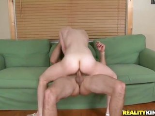 Redhead Sage Evans comes by her making a hit with face sperm guised ensuingly sexual intercourse with appealing guy