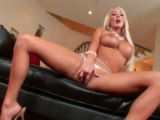 Lachelle with monstrous knockers as well mellifluous extremely whorish girl gets hold of thrill in solo action