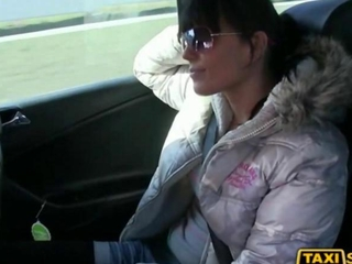 freaky girl Kristyna drilled thanks to a cab fare