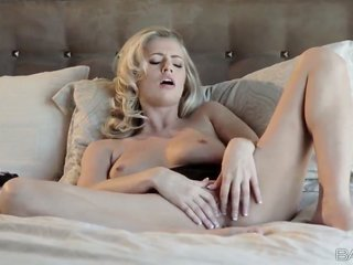 amazing fair-haired girl Alexa dork with impulsive drenched whoppers along with long steamy legs takes off pitchy bra during the time that touching fu