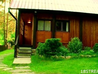 Outdoors copulation excites legal age boylike brunette hair hair