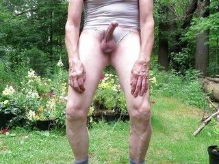 Panty boy masturbates, unchaste orgasm.