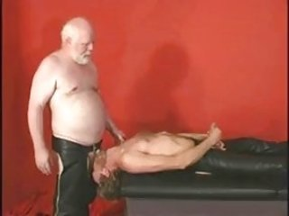 leather overweight patriarch gets hold of fucked