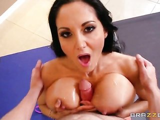 Ava Addams with gross billibongs finds her cavity packed it in with Tyler Nixons rough boner