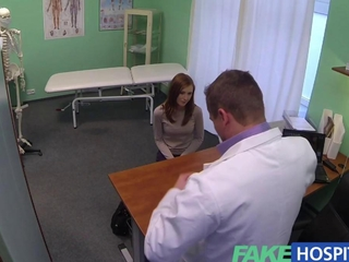 Fake Hospital simple redhead catches a creampie injection
