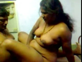 Desi grown-up Aunty In Red Saree Fuking wid beau