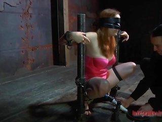 Demeaning a handcuffed female