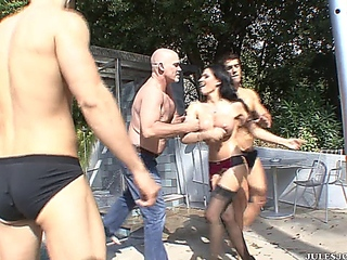 REBECA LINARES - OILED UP 'coz A GANG bang