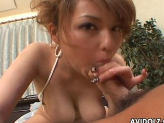 concupiscent pertaining to the Orient budding with large tits rides a large cock