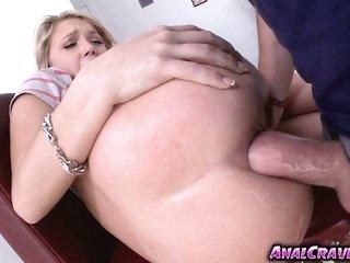 skimpy blonde ass Dakota Skye anal screwed in her unsupple ass