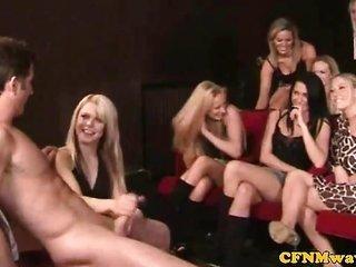CFNM hj amiable sluts individual sexually bizzare with guys cock