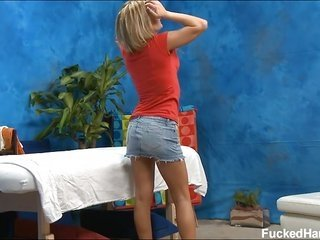 glamorous eighteen year old cuteie obtains buggered coarse by her massage therapist
