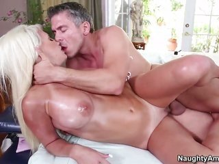 Mick Blue touches the hottest parts of breathtakingly delicious Jacky Joys somebody up to now he nails her cunt